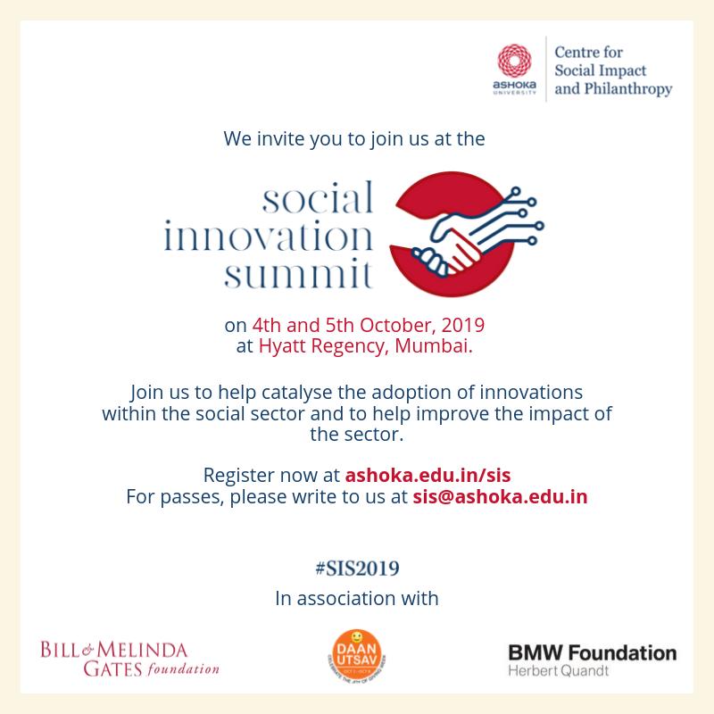 Social Innovation Summit 2019 by CSIP