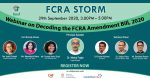 FCRA Storm: What NGOs Need to Know About FCRA Amendment Bill, 2020